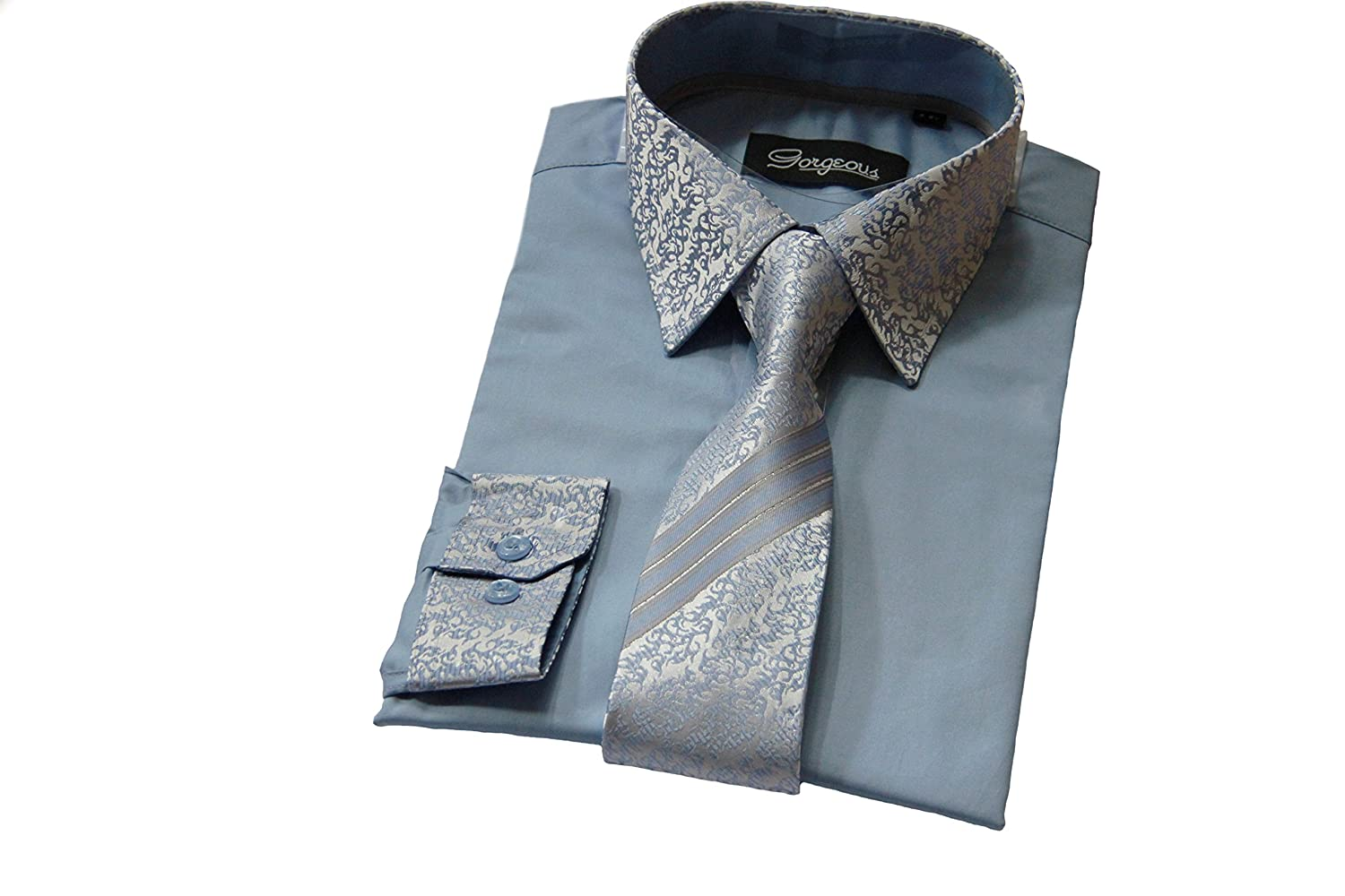 Boys Special Occasion Smart Shirt, Patterned Tie with Matching Cuffs