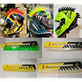 Helmet Accessory Cuttable Rubber Mohawk/Spikes for All Motorcycles Dirt Bike and Normal Helmets (Green)