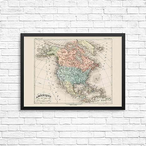 Amazon.com: Vintage North America Countries Wall Decor ...