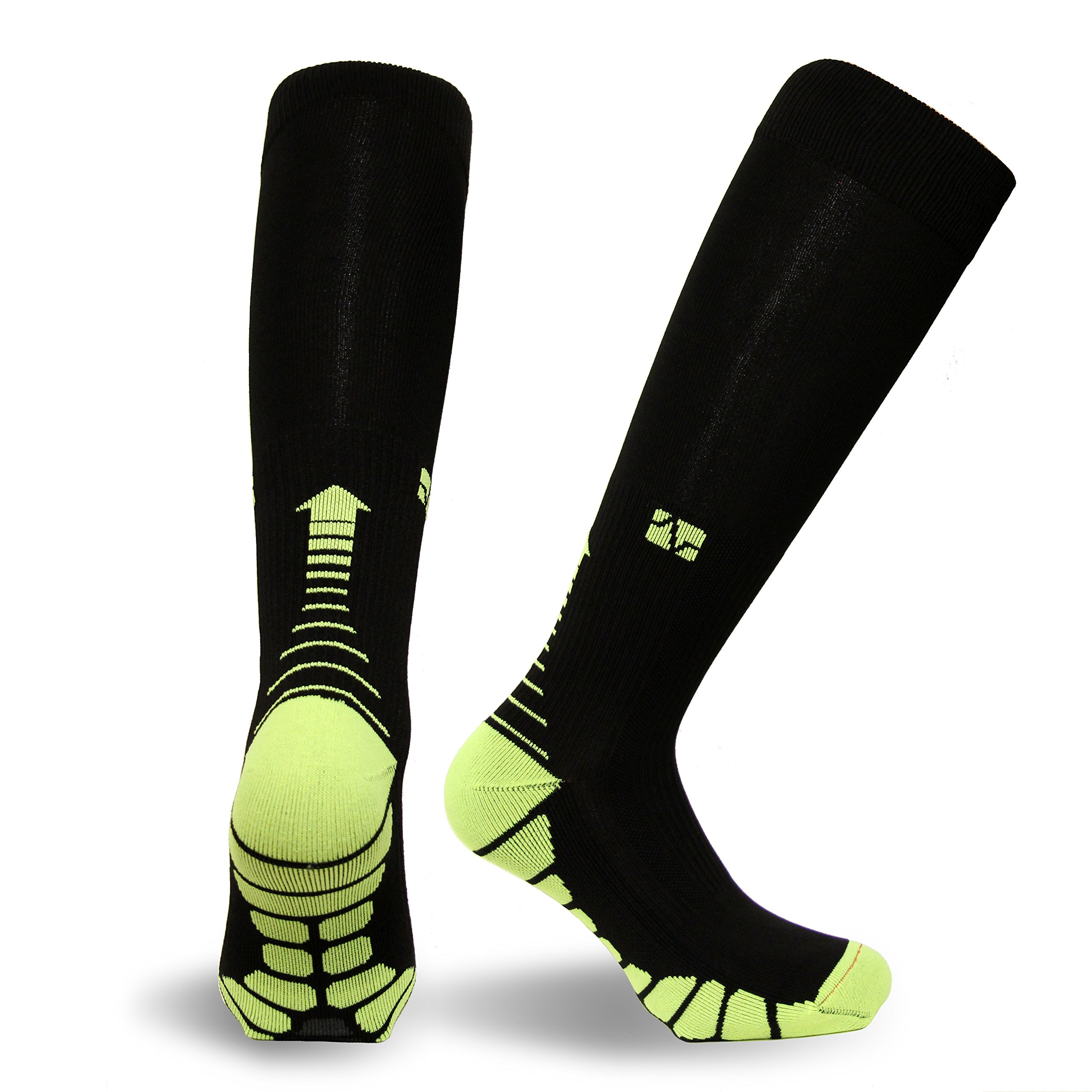 Vitalsox Italy-Patented Compression VT1211,Small,Black/Neon by Vitalsox