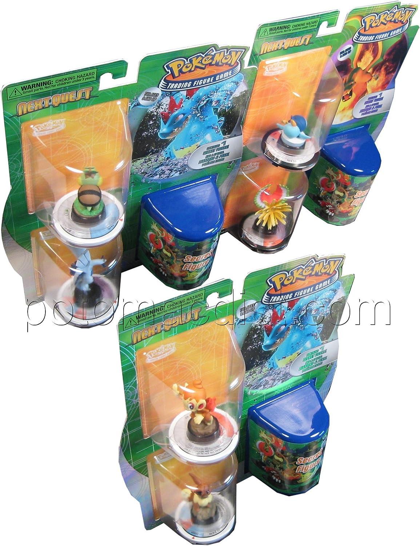 Pokemon Trading Figure Game NextQuest 3 Figure Booster (3 Random Figures)