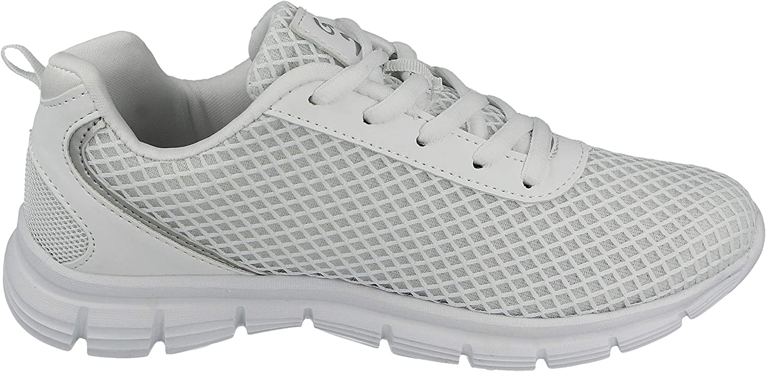 Galop Ladies Girls L31010 Canvas Mesh Flexi Lace Up Ultra Lightweight Sports Gym Work Out Casual Trainers Size Kids 12.5-8