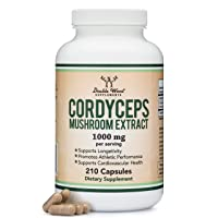 Cordyceps Capsules (Cordyceps Sinensis Mushroom Extract) 210 Count, 3.5 Month Supply...