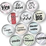 Glass Inspirational Magnets for Fridge - Funny Refrigerator Magnets - Decorative Magnets for Whiteboard - Locker Magnets for