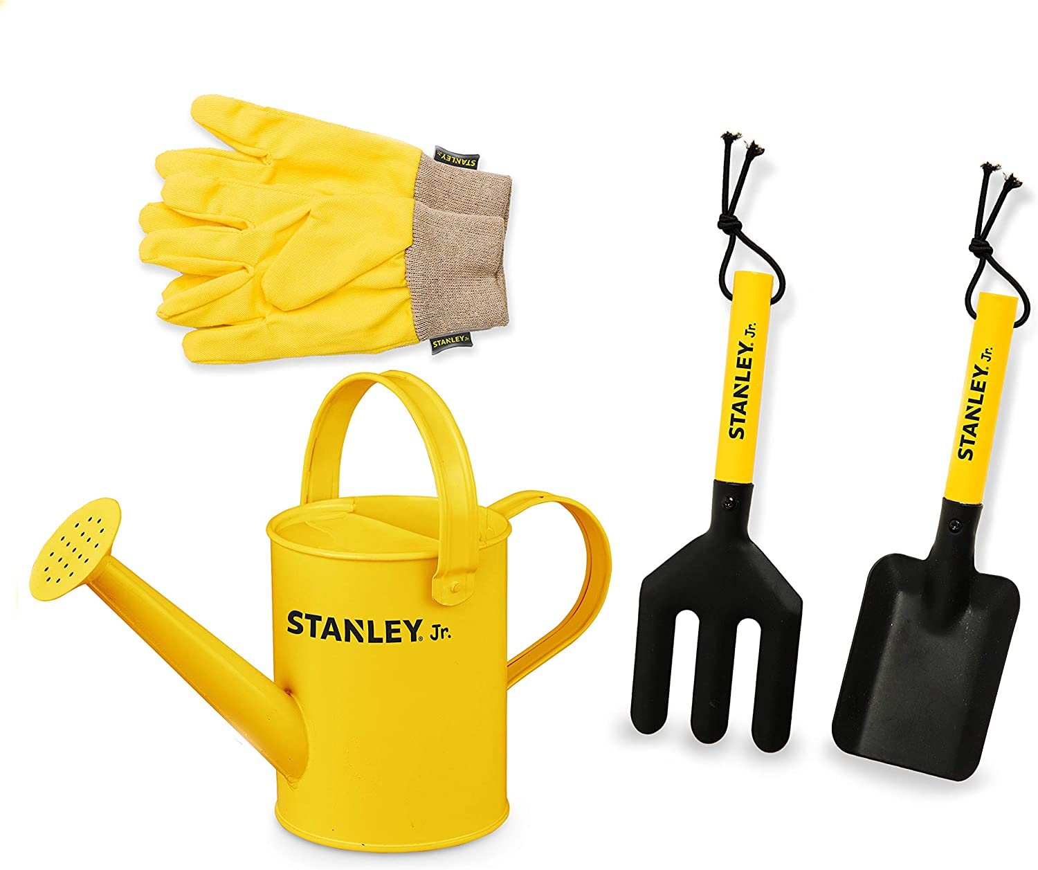 Stanley Jr - 4-Piece Garden Hand Tool Set with Gloves for Kids