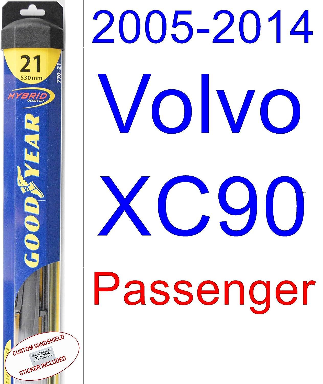 Amazon.com: 2005-2014 Volvo XC90 Wiper Blade (Passenger) (Goodyear Wiper Blades-Hybrid) (2006,2007,2008,2009,2010,2011,2012,2013): Automotive