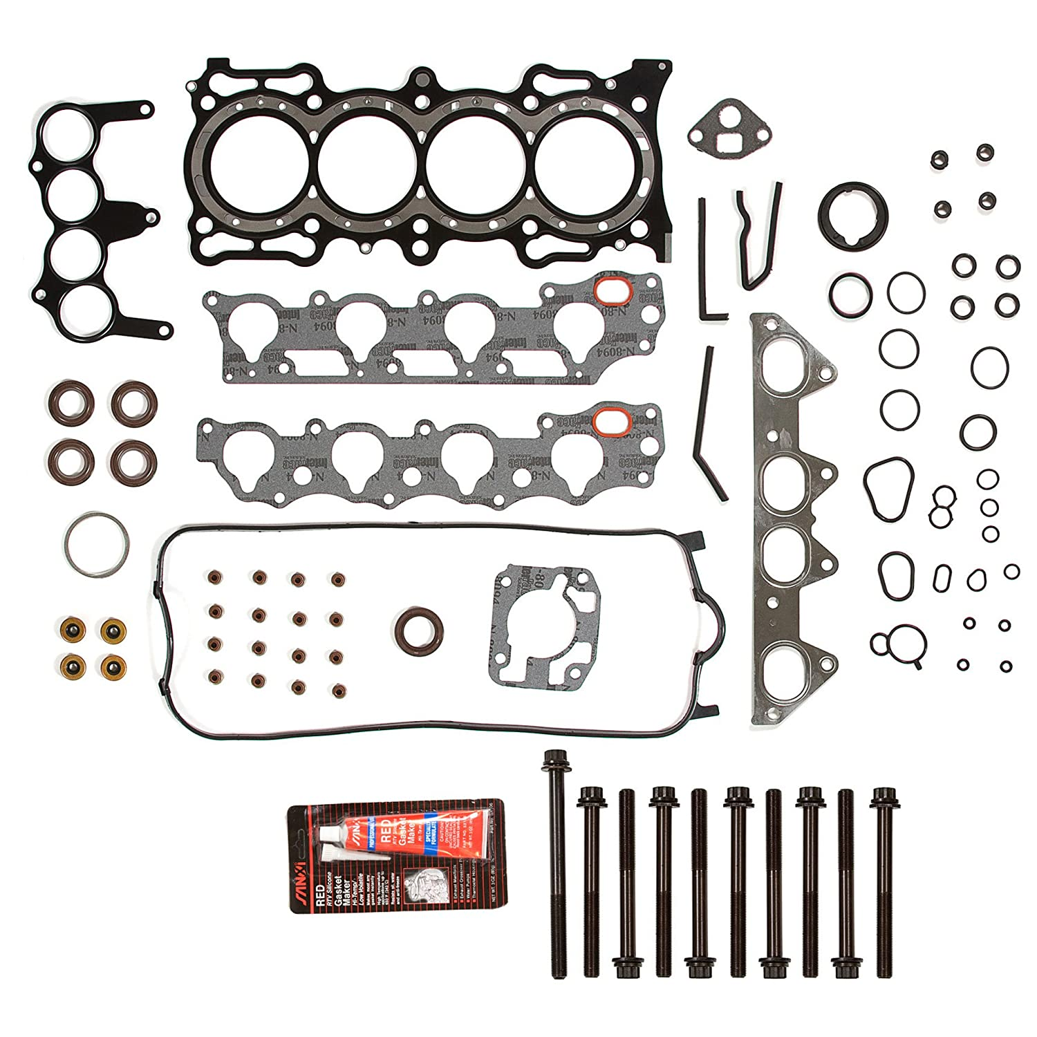 Evergreen HSHB4010 Cylinder Head Gasket Set Head Bolt