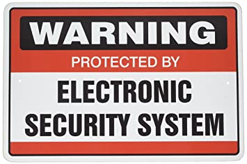 It's a good idea to post a 'Home Security' sign in your yard to deter potential burglars from approaching your house.