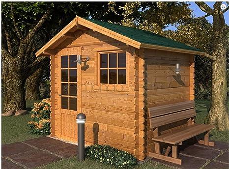 Mondocasette Casa Casa de Madera de jardín - Modelo Mantova Grosor Paredes 28 mm 250 x 200 cm, ripostiglio legnaia Box: Amazon.es: Jardín