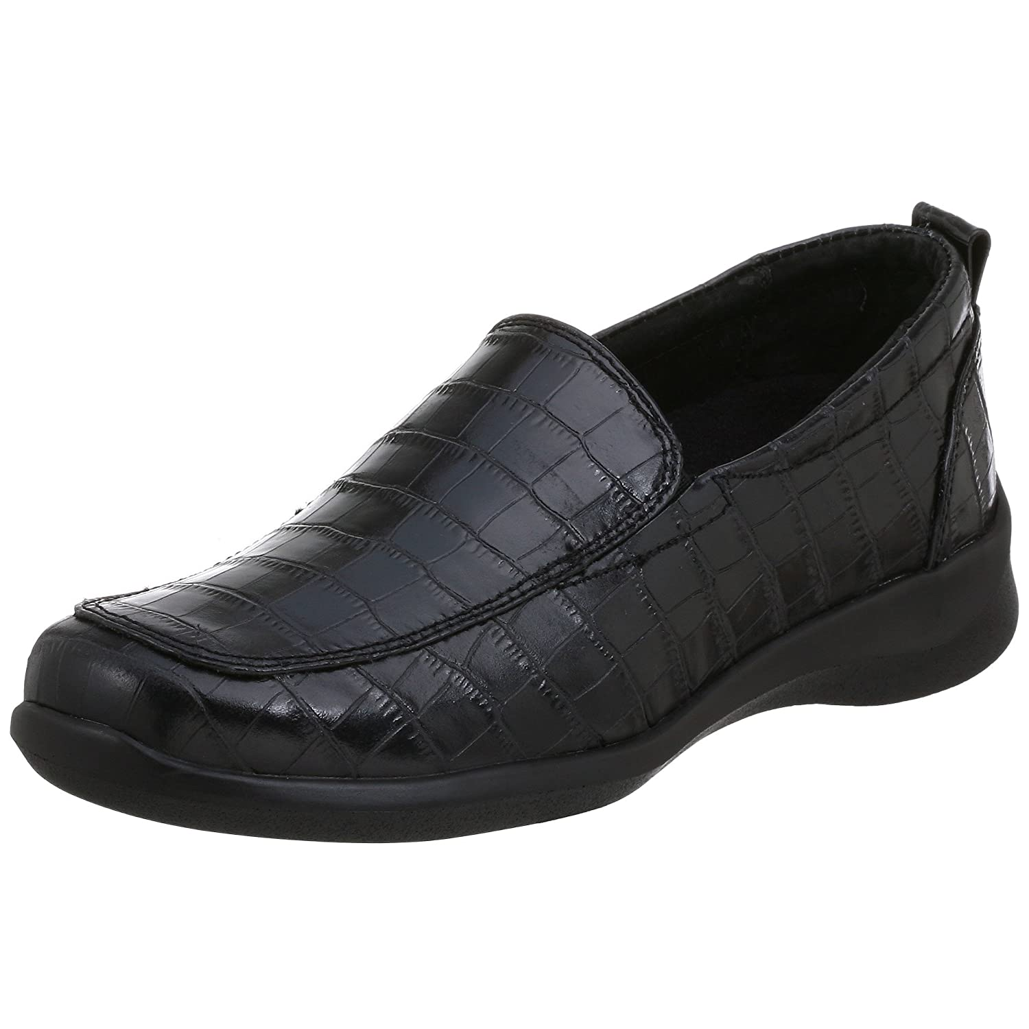 Aetrex Women's E220 Rosalynn Leather Slip-on B0018MM4XA 4.5 B(M) US|Black Crocco