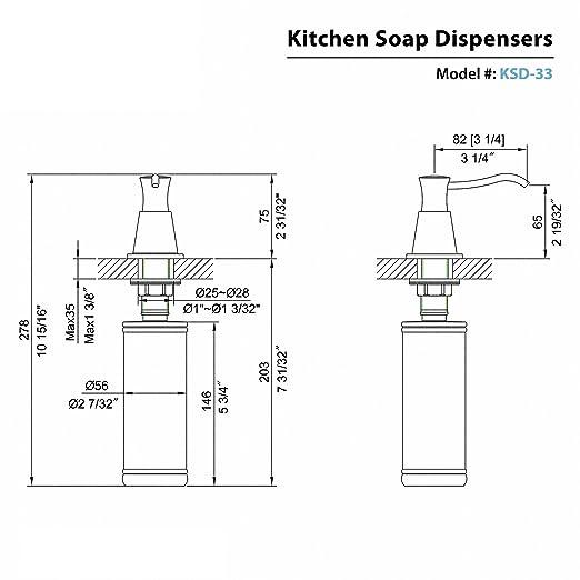 Kraus KSD-33CH dispensador de jabón, color cromado: Amazon.es: Bricolaje y herramientas