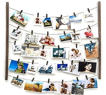 Amazon.com: Marco de fotos de madera para colgar en la pared ...