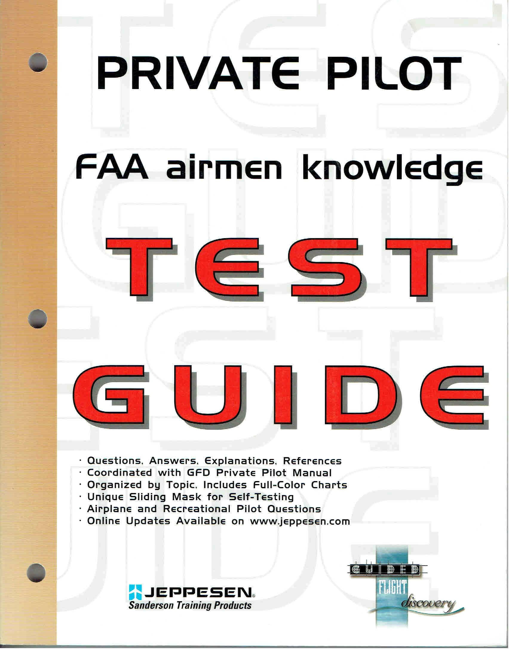 Private Pilot FAA Airmen Knowledge Test Guide for Computer Testing:  Amazon.co.uk: Jeppesen Sanderson Inc. Staff: 9780884873068: Books