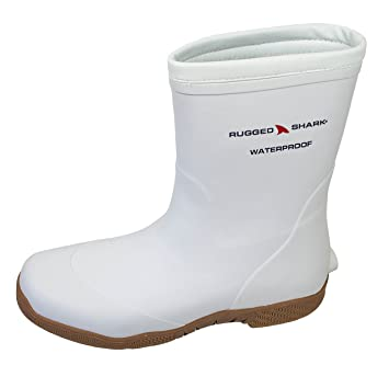 Amazon.com : Rugged Shark Premium Fishing Deck Boot with All-Day ...