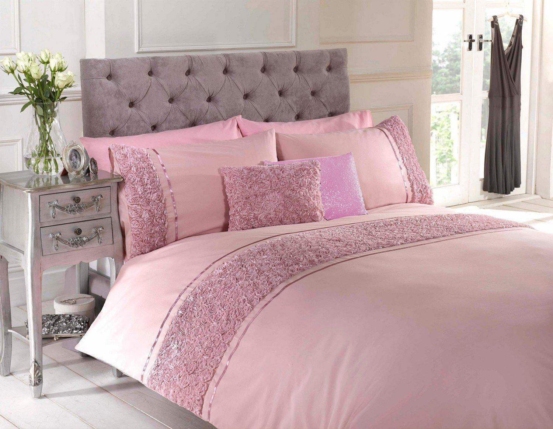 cover pink plaid ebay duvet set light s bedding pale itm