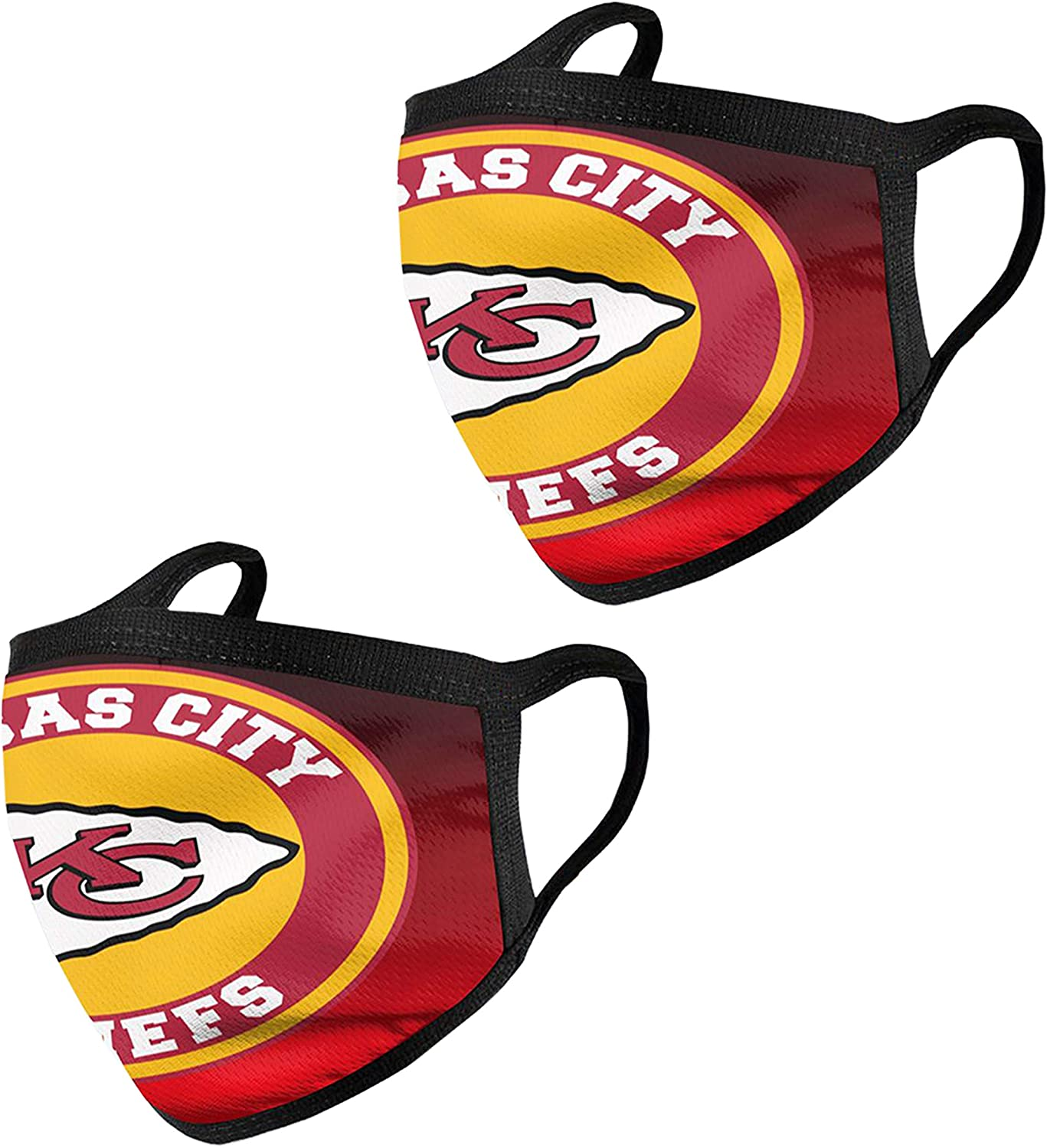 PAOMOZX American Football Team Logo Reusable Washable Unisex Dust Mouth Face Cover for Outdoor Fashion Cloth 2pcs