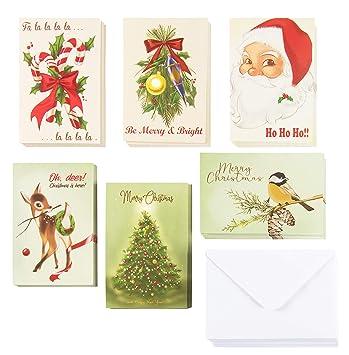 Amazon.com: Juego de 48 tarjetas de felicitación de Navidad ...