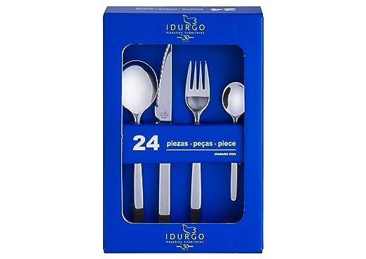 Amazon.com | idurgo Collina Ref. 16800 Cutlery Set, Stainless Steel: Dinnerware Sets