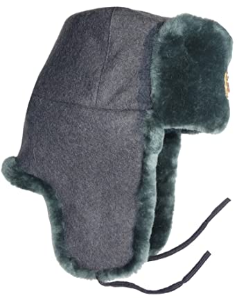 5b1c5adeb Sheepskin-like Wool Top Faux Fur Russian Ushanka Winter Hat, Army Soldier