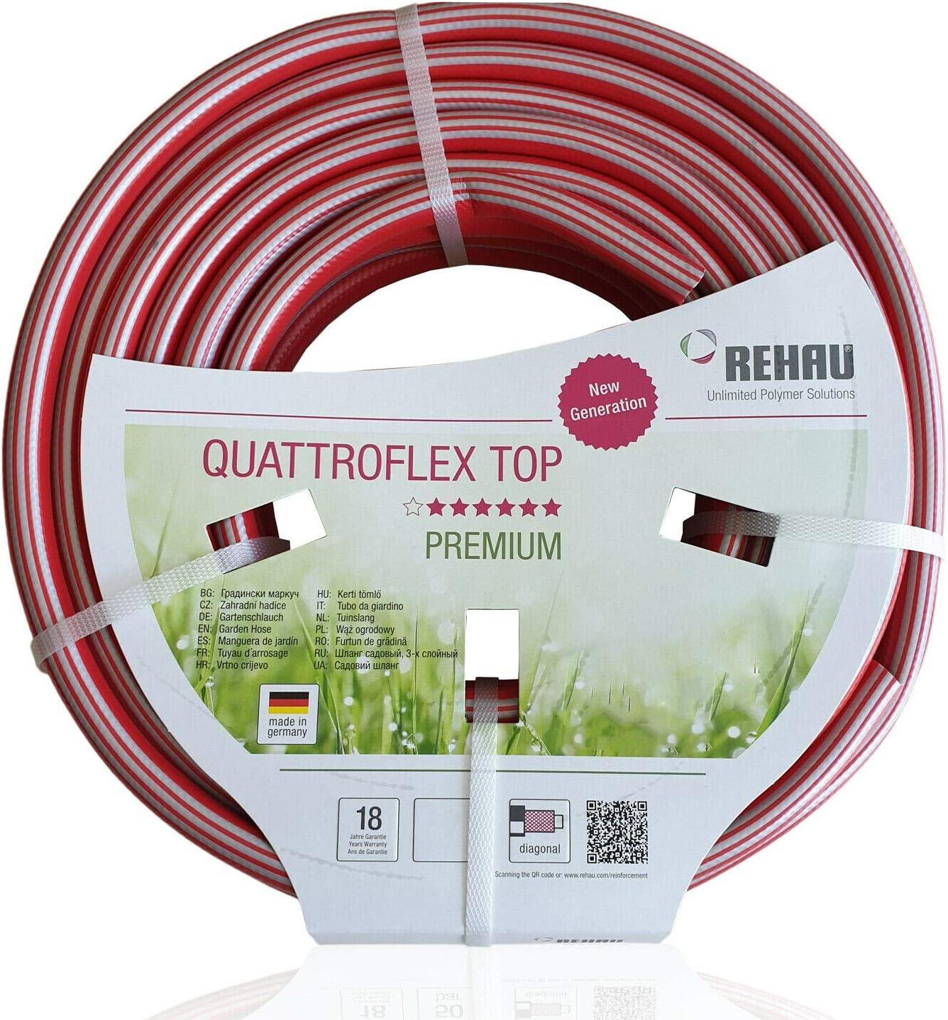 Rehau 10974061600Premium jardín manguera Quattro Flex Top 1/2pulgadas, longitud 30m