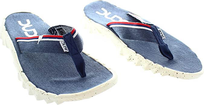 Dude Shoes Sava Marine Canvas Flip Flop 44/5 INrlNDTyO