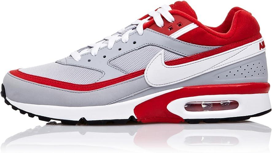 Nike Zapatillas Running Air Classic BW Textile Gris/Rojo/Blanco EU ...