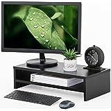 FITUEYES 2 Capas Elevador del Monitor de Madera Soporte para Monitor Color Oak DT205401WO