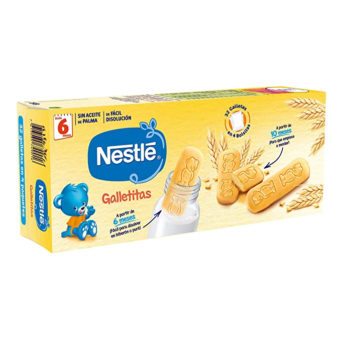 Nestlé Galletitas para bebés desde 6 meses - 12 paquetes de ...