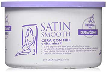 Satin Smooth Honey Wax with Vitamin E, 14 Ounce