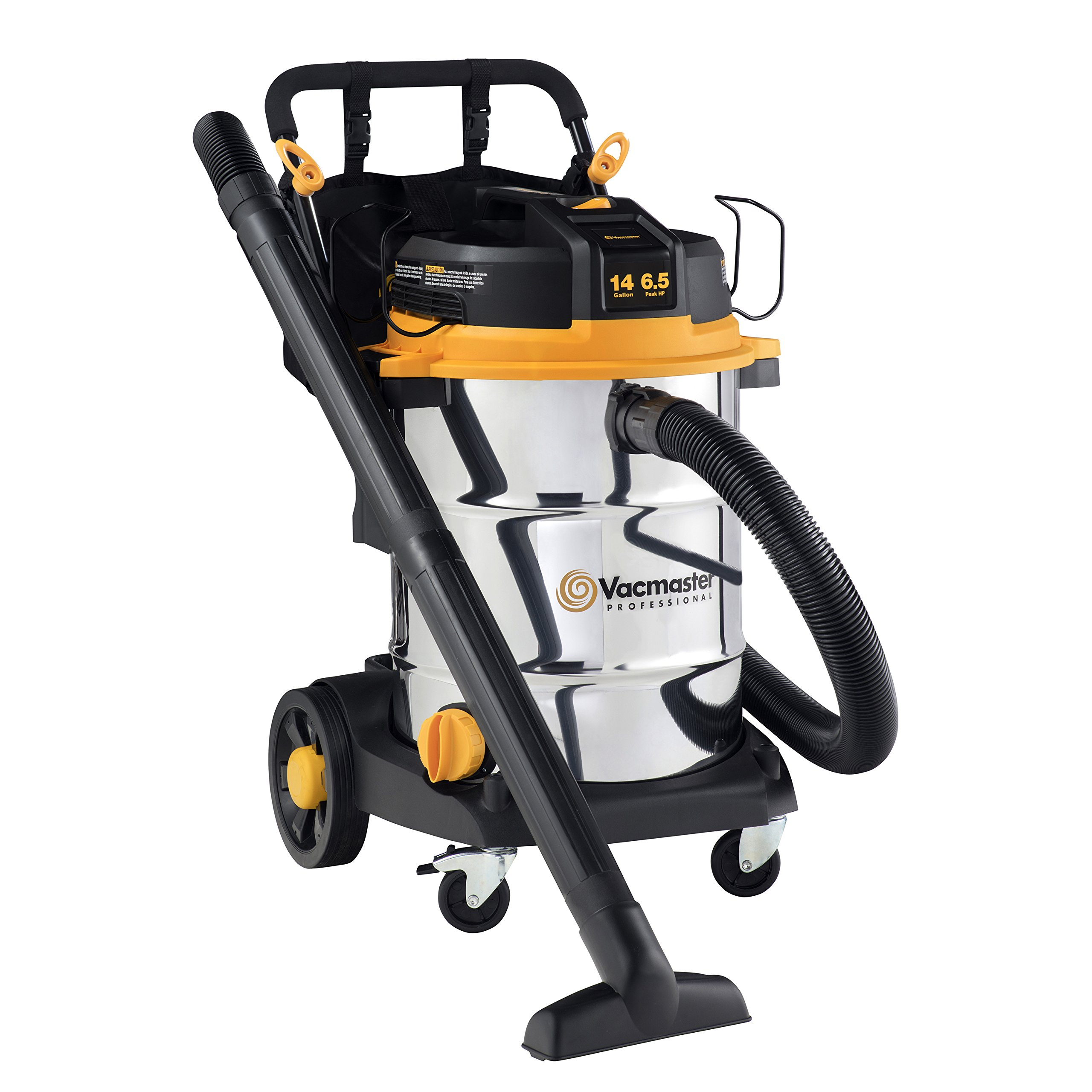 Vacmaster - Beast Professional Series 14 Gal. 6.5 HP Steel Tank Wet/Dry Vac with Cart (VJE1412SW0201) by Vacmaster (Image #1)