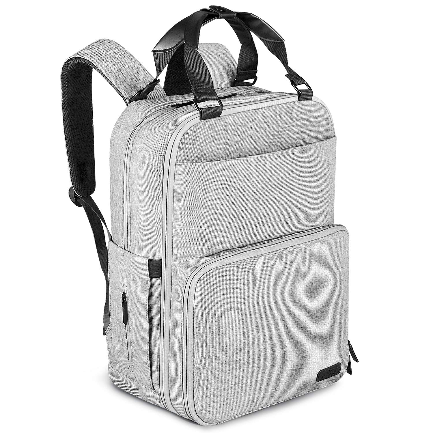Diaper Bag Backpack, ONSON Multifunction Waterproof Travel BackPack Maternity Baby Nappy Changing Bags with Insulated Pockets, Stroller Straps, Large Capacity, Stylish, Gray by ONSON