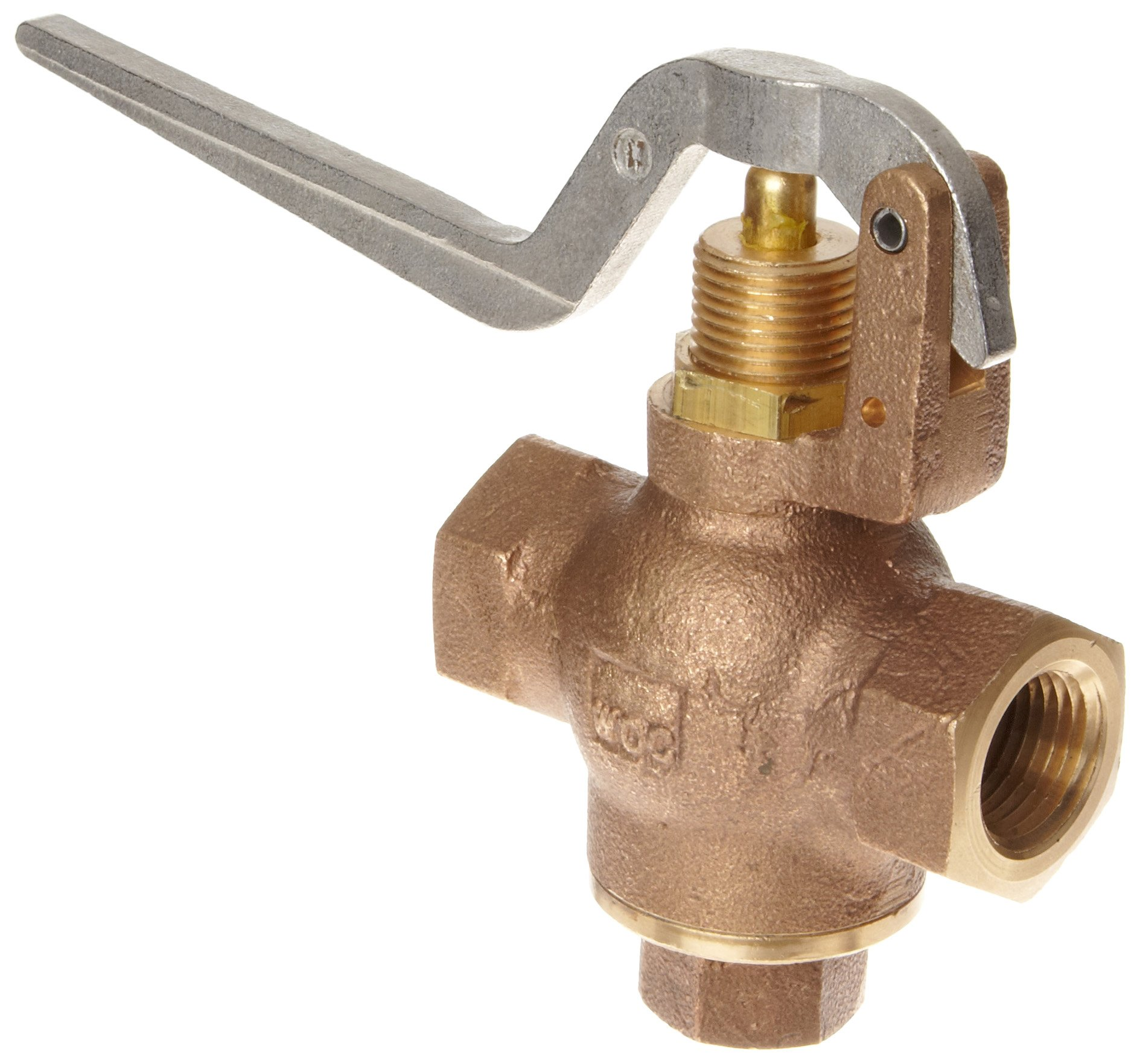 Kingston 305B Series Brass Quick Opening Flow Control Valve, Squeeze Lever, 1/2'' NPT Female