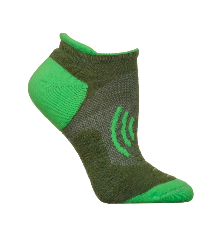 CSI Shockwave Extrafine Merino Wool Tab Running/Hiking Socks Made In the USA 144pinkgreySHOCK