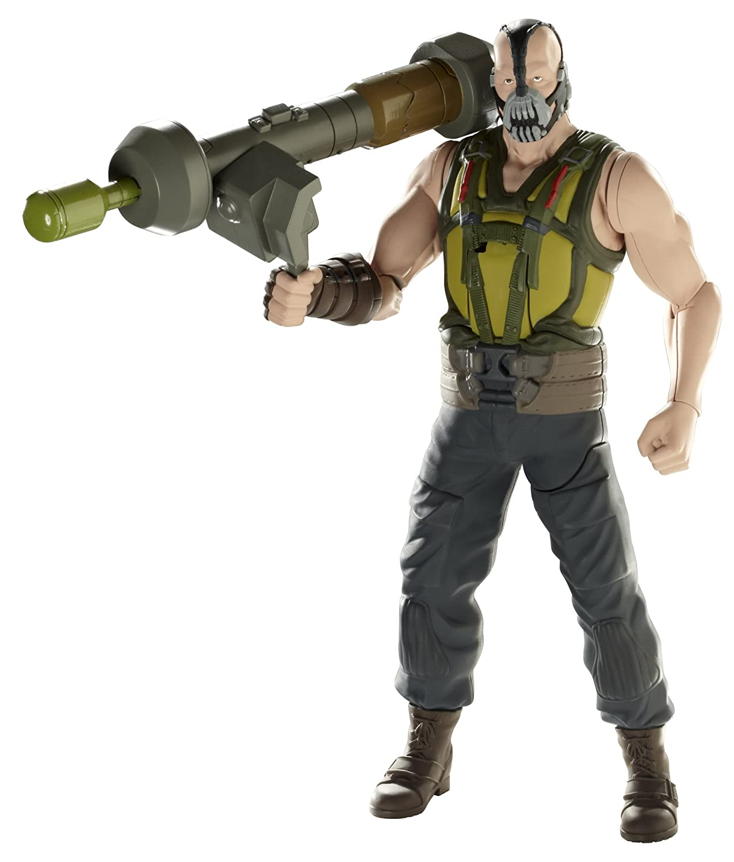 DC W7218 Batman The Dark Knight Rises Action Figur  Muskelprotz Bane, ca. 25 cm mit Raketenwerfer