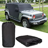 E-cowlboy Cab Cover Car Cover 82215370 for Jeep Wrangler JL JK JLU JKU 2007-2020 4 Door - 300D Oxford Sun Wind Shade…