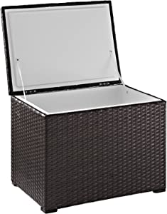 Crosley Furniture CO7302-BR Palm Harbor Outdoor Wicker 60-Quart Cooler, Brown