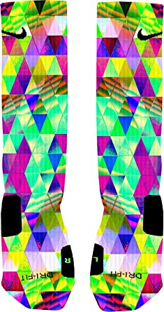 ed2fd9999 Amazon.com: Psychedelic Prism Custom Elite Socks: Clothing
