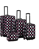 Rockland Luggage Dot 4 Piece Luggage Set