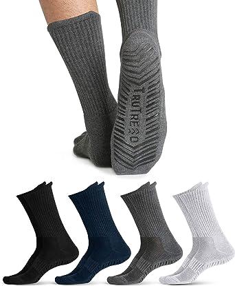 4 Pack Pilates Yoga Grip Socks Non Slip Non Skid Socks for Women and Men
