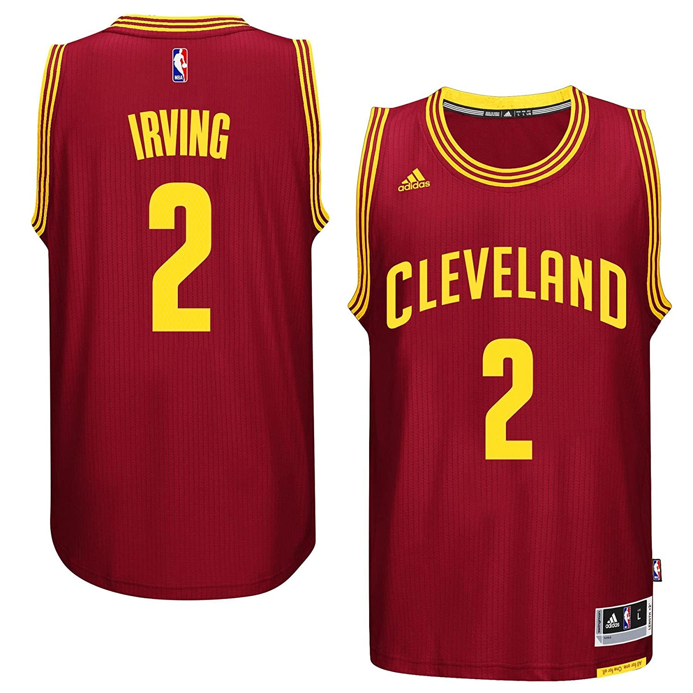 Amazon.com : Kyrie Irving Men's Maroon Cleveland Cavaliers adidas ...