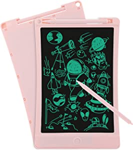 iToolsTech LCD Writing Tablet, 8.5 inch Super Light Electronic Drawing Writing Board with Lock Fuction, One-Button Erase, Digital Doodle Board for Kids and Adults at Home, School and Office-Pink