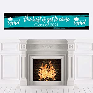 Big Dot of Happiness Teal Grad - Best is Yet to Come - Turquoise 2021 Graduation Party Decorations Party Banner