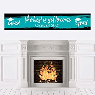 product image for Big Dot of Happiness Teal Grad - Best is Yet to Come - Turquoise 2021 Graduation Party Decorations Party Banner