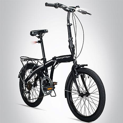 Bergsteiger Windsor - Bicicleta plegable de 20 pulgadas, cambio ...