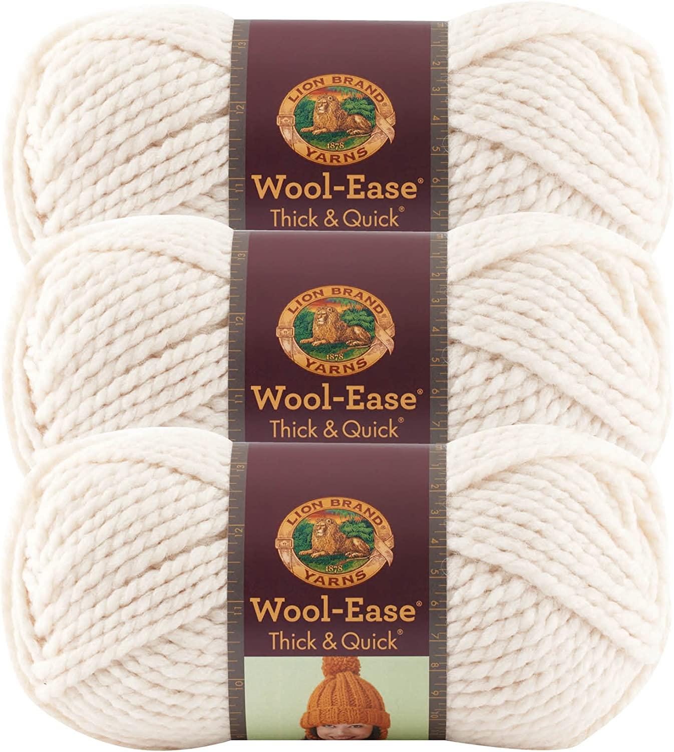 3Pk Lion Brand 640-147 Wool-Ease Thick /& Quick Yarn-Eggplant