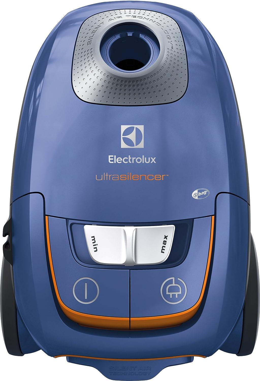 Electrolux EUS8X2SB Aspirapolvere con Sacco Ultrasilencer, Silent Zen, Aspirazione AeroPro, Sacchetto S-Bag Clinic Anti Allergy, Sistema Motion Control, Steel Blue, 3.5 Litri [Classe di efficienza energetica A]