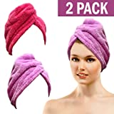 Amazon Price History for:Bath Blossom Microfiber Hair Towel - Fast Drying Hair Wrap Turban Cap Style ( 2 Pack )