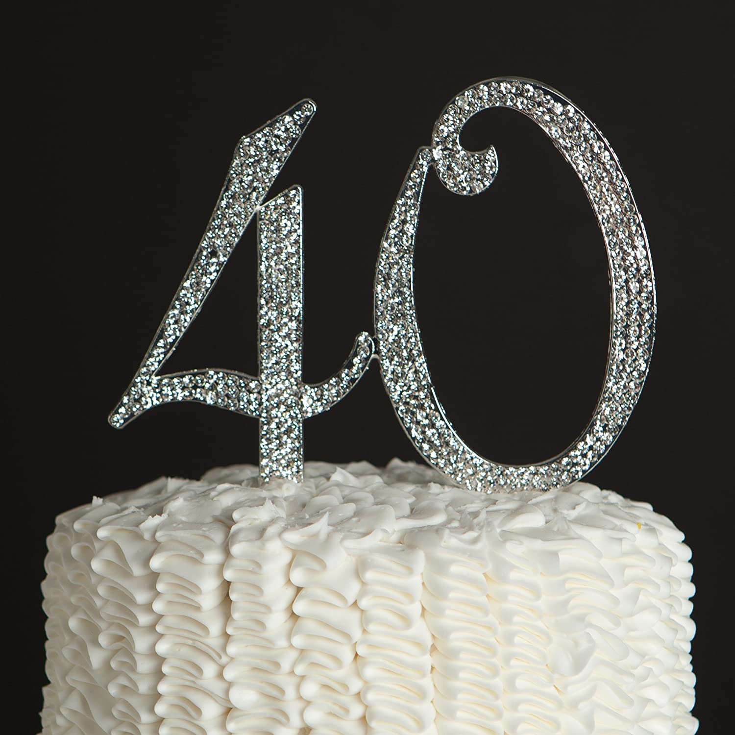 Amazoncom Ella Celebration 40 Cake Topper for 40th Birthday or