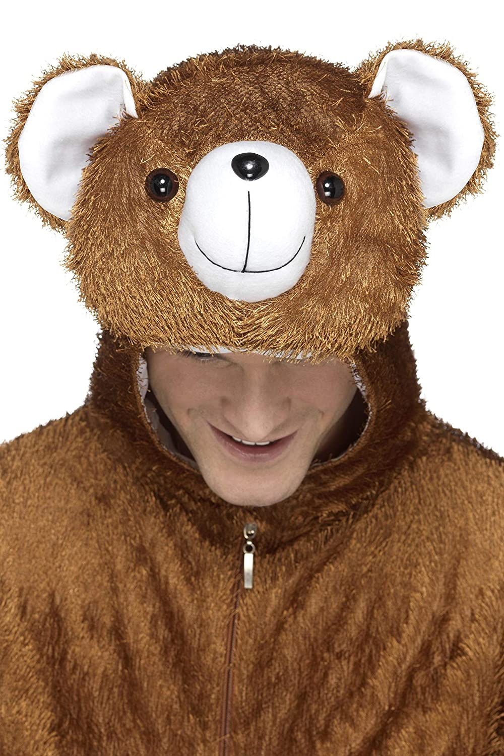 ef27361640c Amazon.com  Smiffy s Men s Bear Costume Includes Jumpsuit with Hood   Clothing