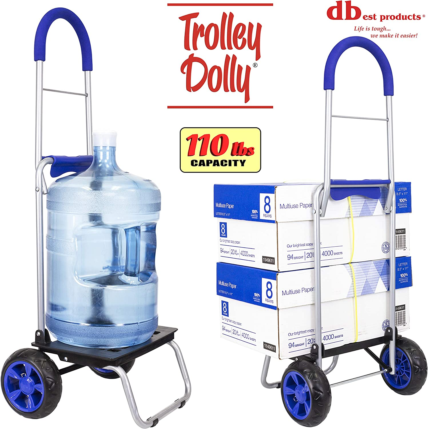 Chariot Dolly Gris Chevron Courses provisions Pliable Chariot